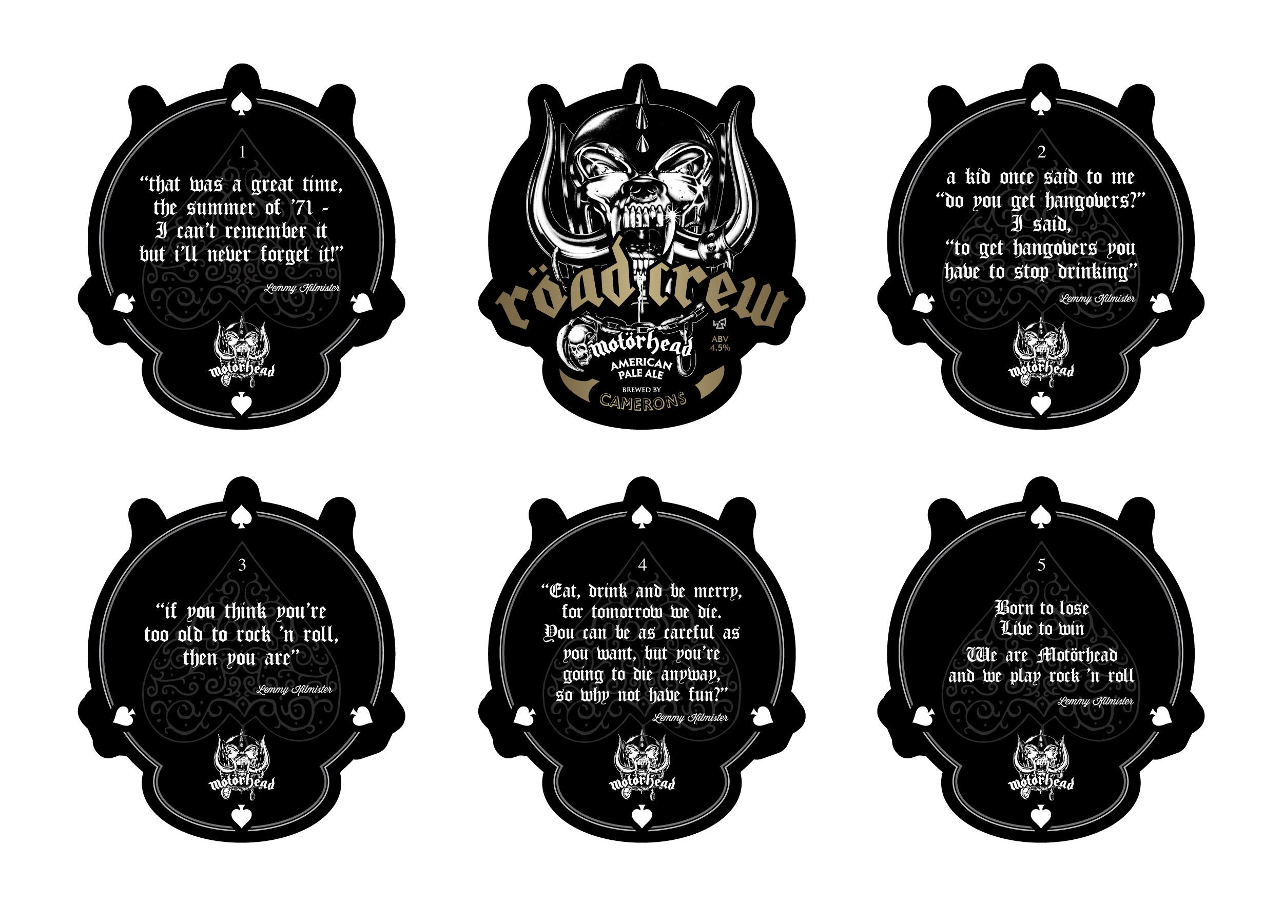 Motörhead Röad Crew Beer Mats set of 5