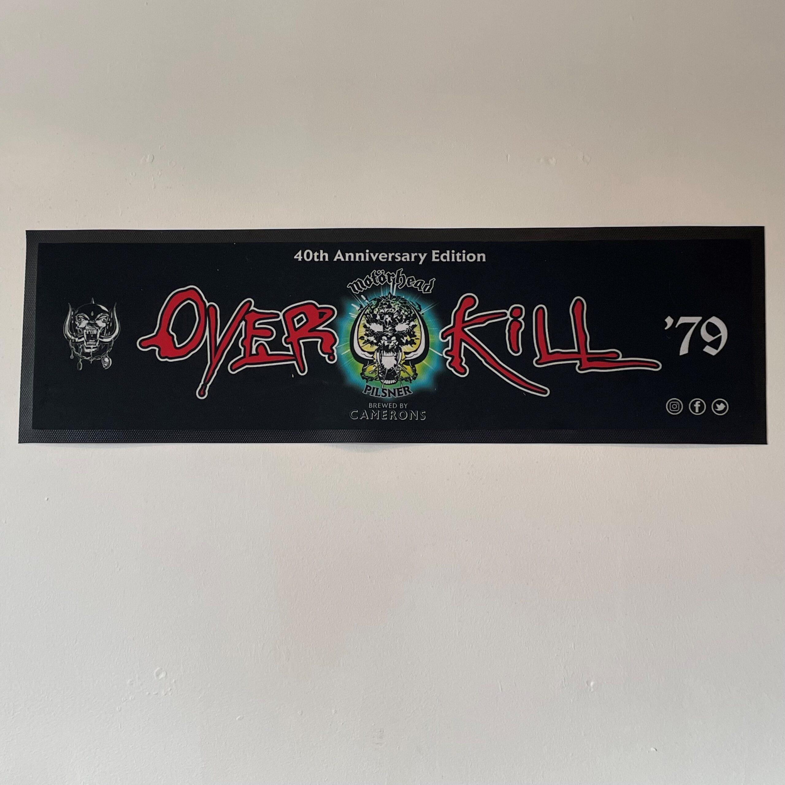 Motörhead Overkill Large Bar Runner