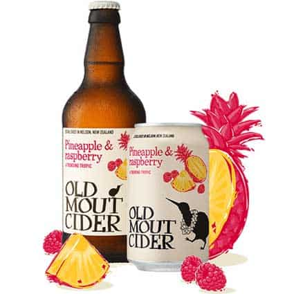Old Mout Pineapple & Raspberry Cider 440ml Bottle
