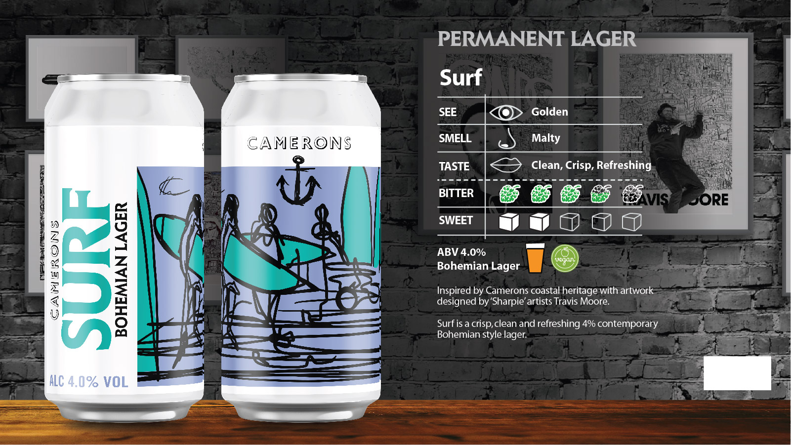 Surf Lager Can 440ml