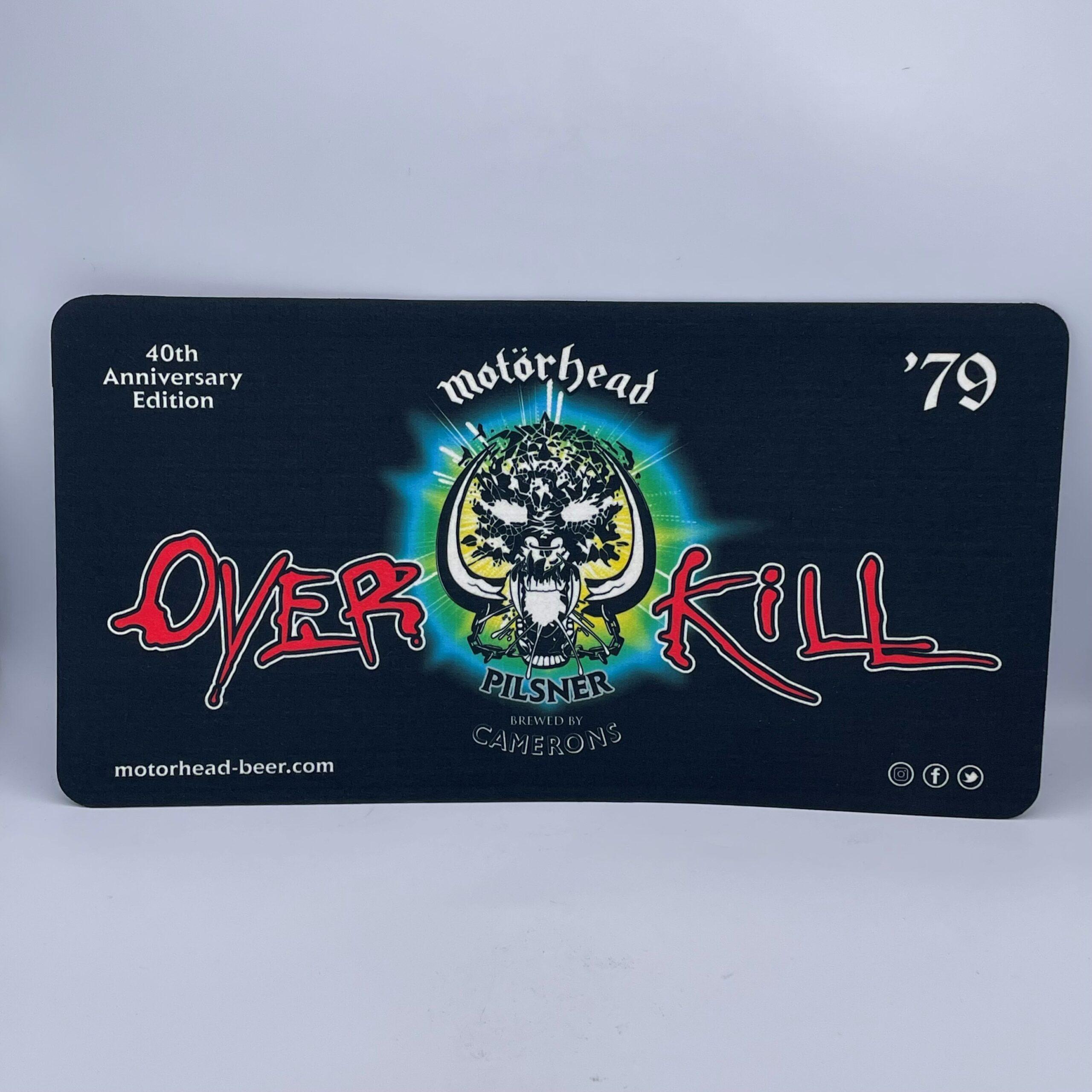 Motörhead Overkill Small Bar Runner