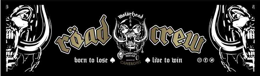 Motörhead ROAD CREW Large Bar Runner