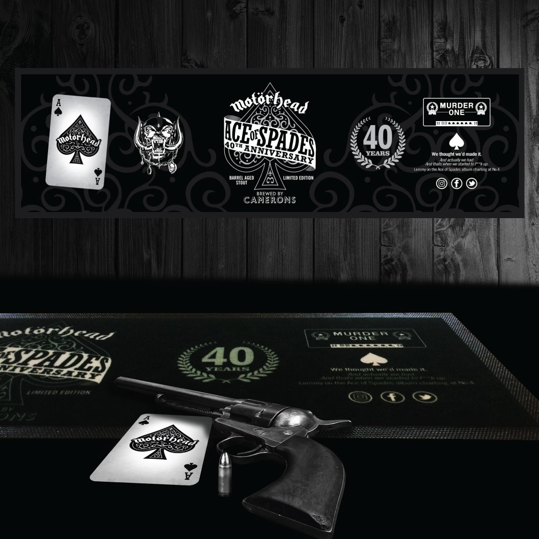 Motörhead Ace Of Spades Large Bar Runner