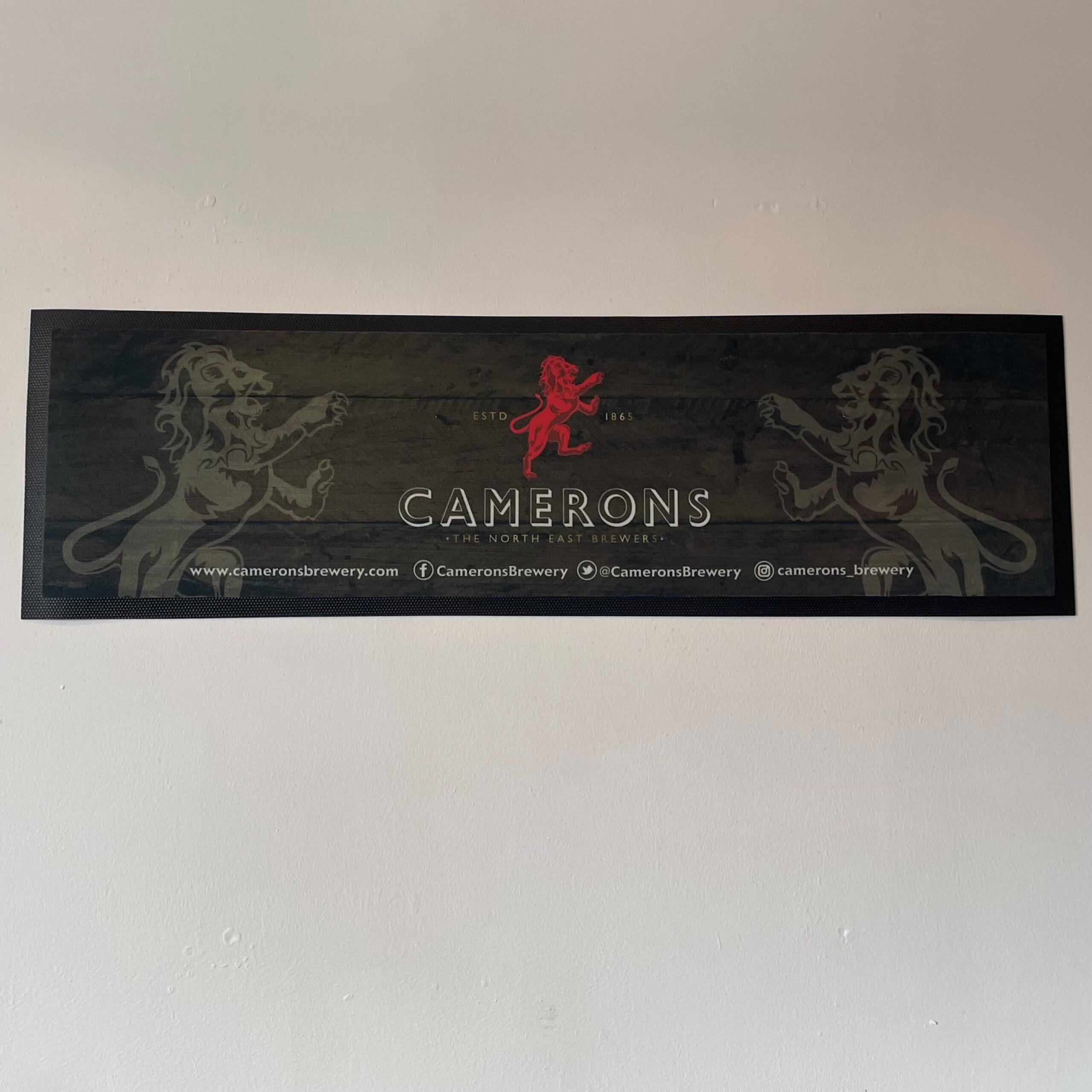Camerons Brewery Large Bar Runner